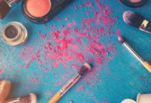 toiletries and makeup